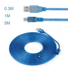 1/3/6/10/15FT Transmisi Data Kecepatan Tinggi Konektor Superspeed USB 2.0 Type A MALE untuk Mini B 5 Pin Male Adaptor Kabel Cord(China)