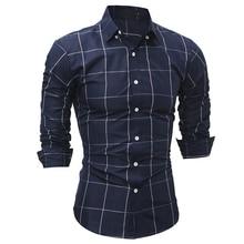 Fashion Brand Shirt 2017 High Quality camisa masculina Autumn Plaid Men Slim Dress shirt Long Sleeve Casual Social Male Shirt