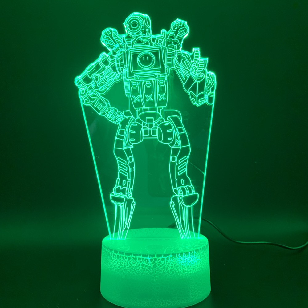 Novelty Lights Game APEX Legends PathFinder Figure Birthday Gift For Kids Home Decoration 3d Led Night Light Lamp Battle Royale