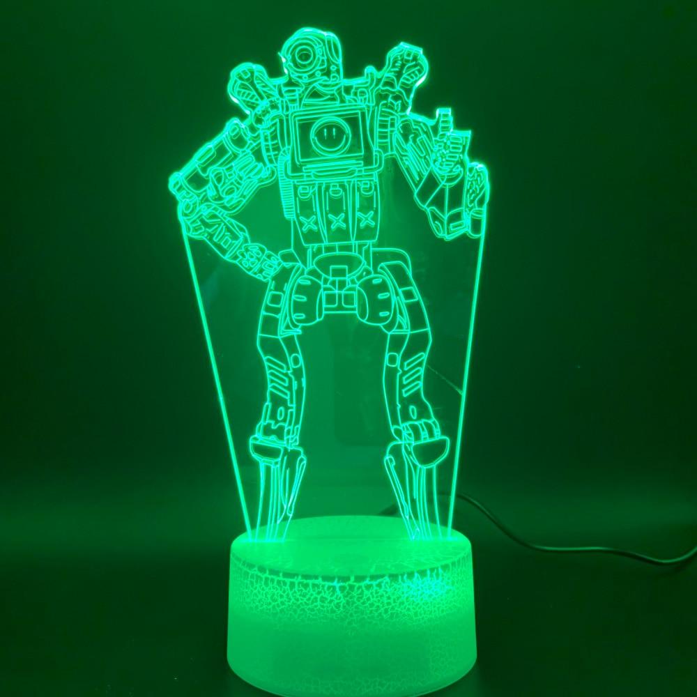 Novelty Lights Game APEX Legends PathFinder Figure Birthday Gift For Kids Home Decoration 3d Led Night Light Lamp Battle Royale