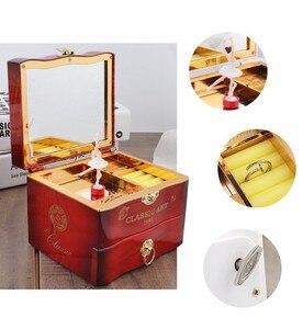 Image 5 - Classic Rotating Dancer Ballerina Piano Music Box Clockwork Plastic Jewelry Box Girls Hand Crank Music Mechanism Christmas Gift