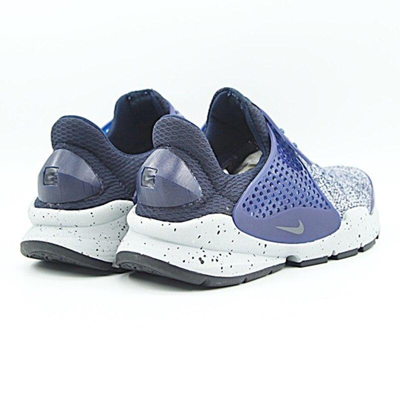 Nike SOCK Dart Для мужчин кроссовки, оригинальные спортивные уличные кроссовки, темно-синий, дышащие Нескользящие 859553 400
