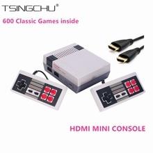 Ретро Семья HDMI Mini ТВ игровой консоли HD классический Портативный игры игроки встроенный 600 игр HD Выход двойной геймпад управления