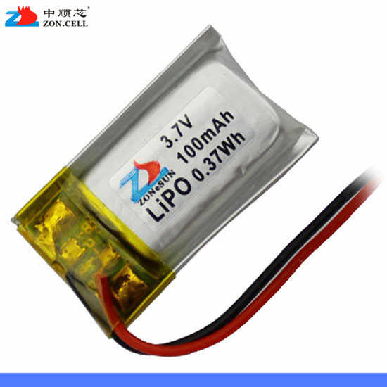 In 3.7V 401220 100mAh lithium polymer battery 451220 Bluetooth headset keyboard mouse Rechargeable Li-ion Cell