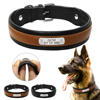 Personalized Dog Collar Customized Dogs ID Collars Inner Padded Leather Pet Collar For Medium Large Pets