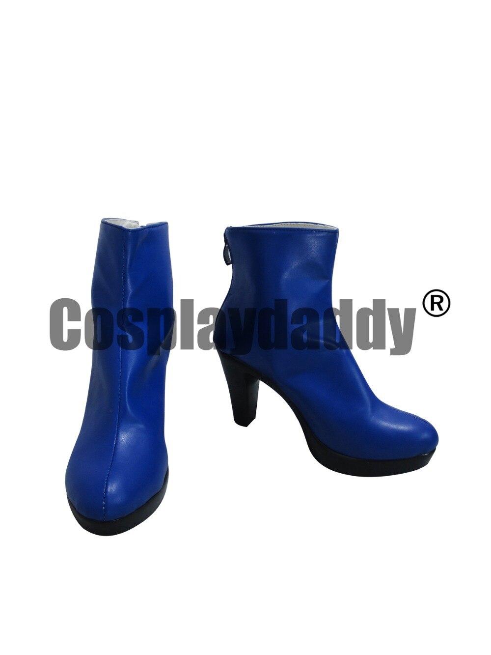 JOJO S Bizarre Adventure Jolyne Kujo Blue Halloween Short Shoes Boots H016