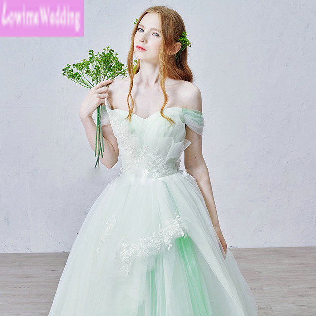 Colorful Off The Shoulder 2016 High Low Wedding Dresses Removable Skirt Tiers Tulle With