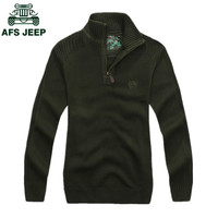 AFS JEEP Hot Sale Fashion Design Men Sweater Pullovers 2017 New Men's Long Sleeve sweaters Casual Turtleneck Sweater Men