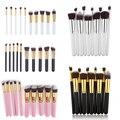 Nueva Arrivals10Pcs Maquillaje Sombra de Ojos En Polvo Herramienta Cosmética Fundación Cheek Brush Set