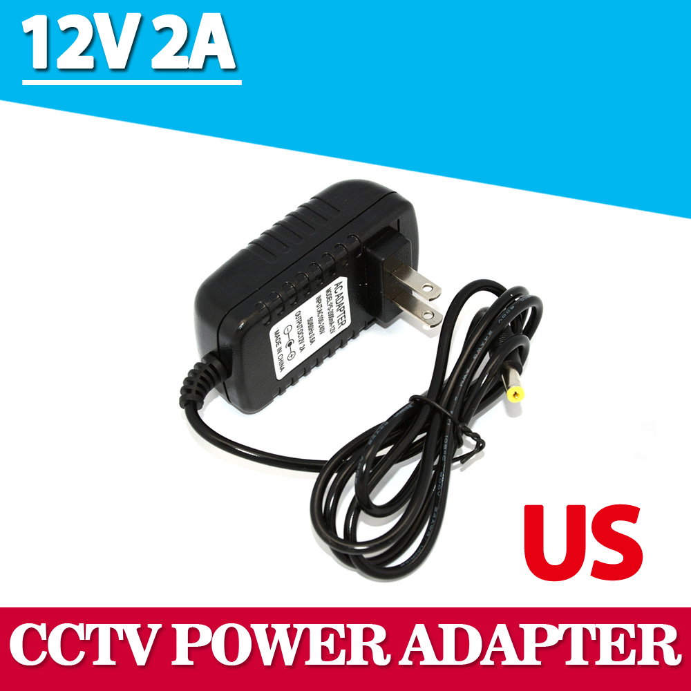 Universal AC 100-240V US Plug For DC 12V 2A 24W Power Supply Adapter Charger For LED Strips CCTV Security Camera Top Sale dc 12v 2a ac adapter power supply transformer for surveillance cameras cctv 24w 5 5 2 1mm high quality us plug