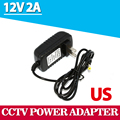 Universal AC 100-240V US Plug For DC 12V 2A 24W Power Supply Adapter Charger For LED Strips CCTV Security Camera Top Sale