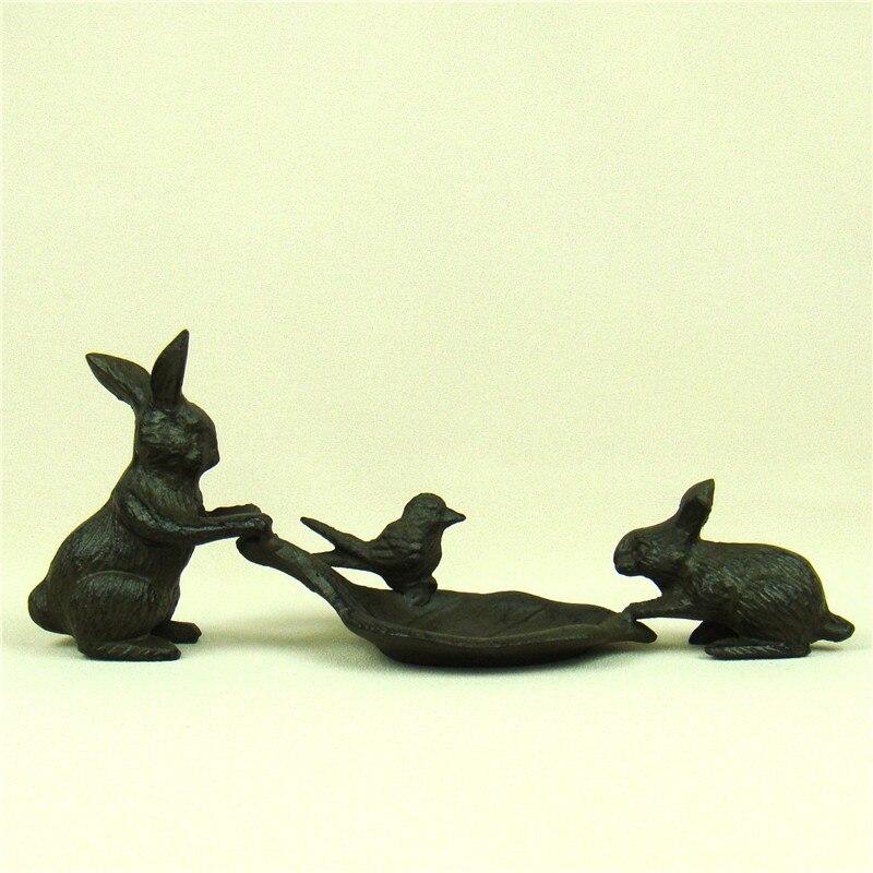 Anneaux de lapin en fonte créative | Collier plat décoratif en métal gauche, porte-collier, organisateur de bijoux, ornement cadeau et artisanat accessoires