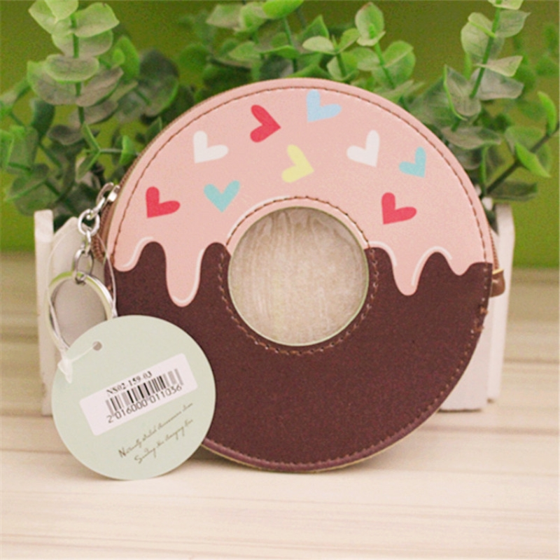 PACGOTH Creative PVC waterproof Cute Carton Candy color Purse Dessert donuts summer sweet hearts zipper Coin Purses Money bag pacgoth creative pvc waterproof cute