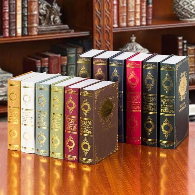 10 st europese jingmei europese decoratieve bronzing vintage props engels nep boekenkast klassieke model