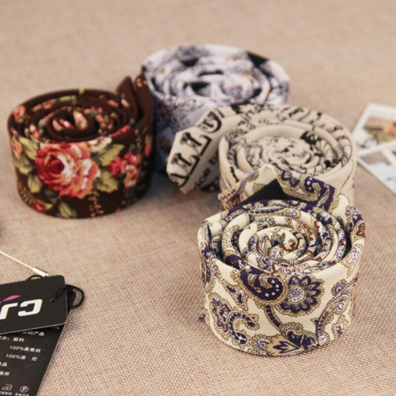 Корейский модельер хип-хоп партия узкий галстук SLIM 5 см цветочный хлопок белье жаккард Gravatas галстуки для мужчин 100 шт. Fedex