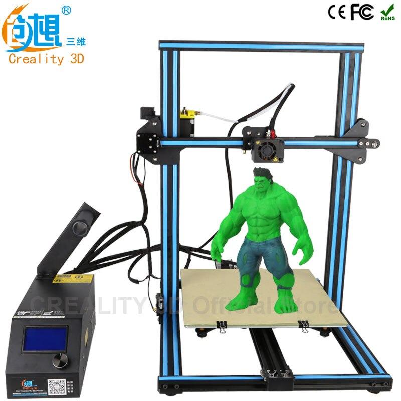 CR-10 CR-10S CREALITY 3D Opcional impressora desktop 3D Armação de Metal Profissional de Alta Resolução Display LCD Estável Filamentos