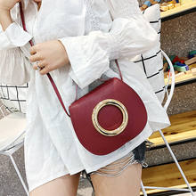 New Women Ladies Cross Body Shoulder Bag Handbag Simple Casual Fashion Circle Ring Purse Messenger Satchel Wallet Cellphone Bags(China)