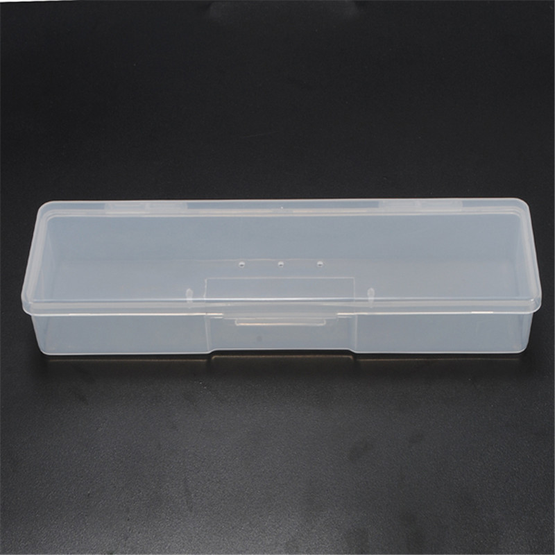 New pp Transparent Plastic Box Storage Box Rectangular Tool Plastic Collecting Transparent Nail Tips Case Jewelry Watch Boxes plastic coffee knock box new