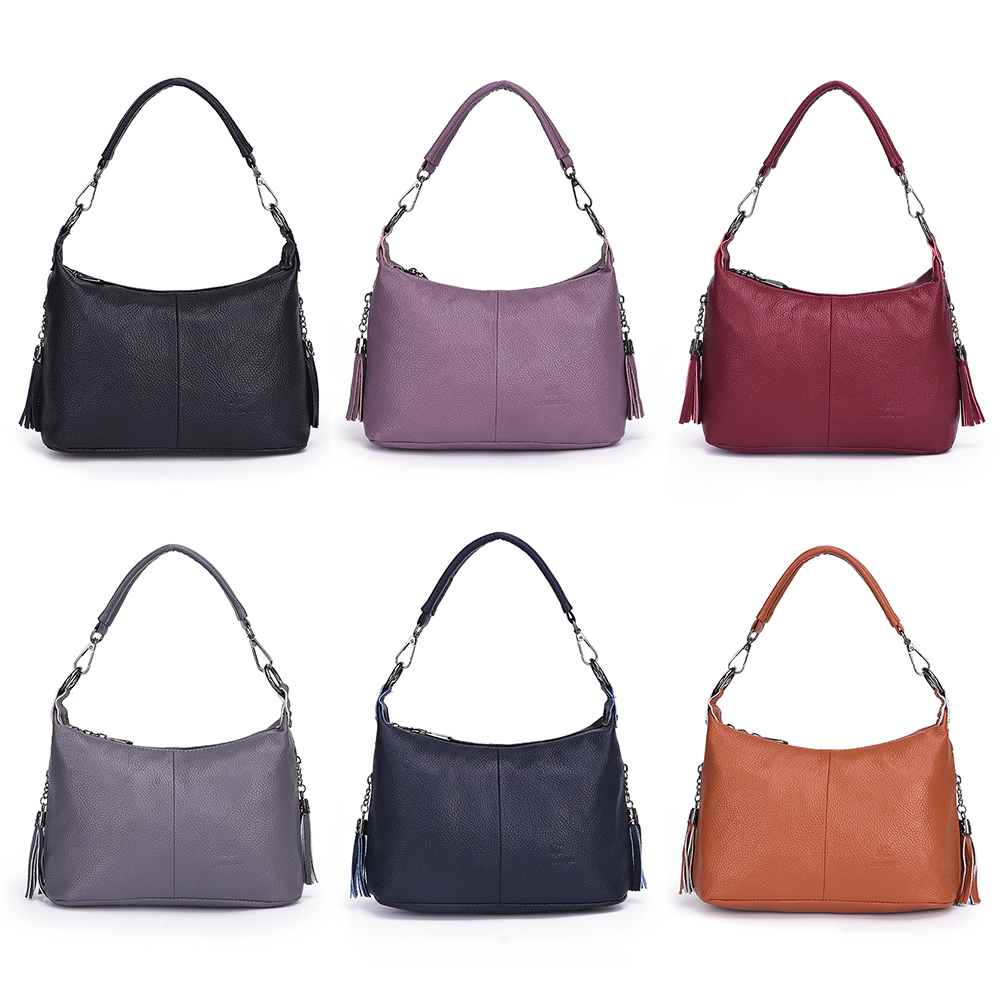 2019 New Elegant Female Shoulder Bags Ladies High Quality Leather Crossbody Bag Soft Solid Color With Long Shoulder Strap