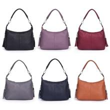 Новинка, элегантные женские сумки через плечо, Женская Высококачественная кожаная сумка через плечо, мягкая однотонная сумка с длинным плечевым ремнем