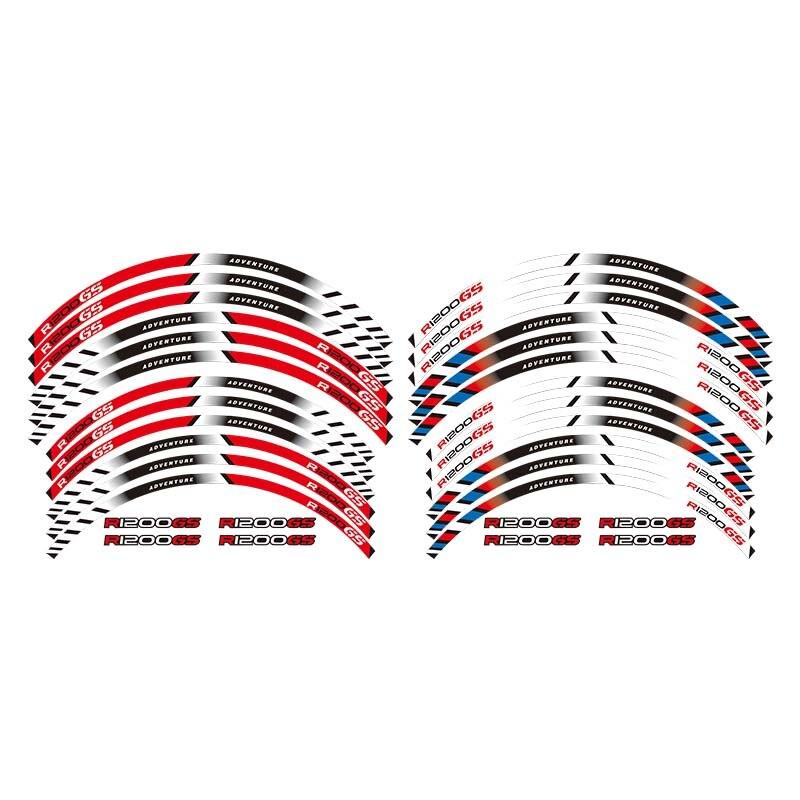 Motorcycles Wheel Stickers Reflective Rim Moto Stripe Tape For BMW R1200GS ADVENTURE 19''17''