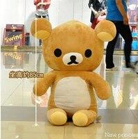 110 см супер милые мягкие гигант rilakkuma плюшевые игрушки big bear лучший подарок для девочки