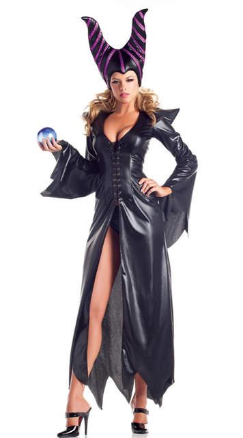 Neue Erwachsene Deluxe Maleficent Taufe Schwarz Kleid