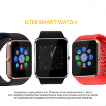 2017 Fuster New GT08 Bluetooth Smart Watch for Apple and Android Phone with SIM Card Slot Smartwatch Pedometer Smart Electronics