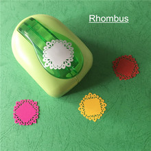 New High Quality Rhombus Shaped Punch Craft Foam Puncher Kids DIY Tools Paper Cutter Scrapbooking Lozenge Hole Punch Free Ship
