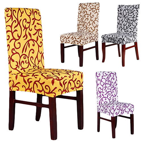 Rhombic Paddy Stretch Slipcover Dining Room Wedding Party Short Chair Seat CoverChina Mainland