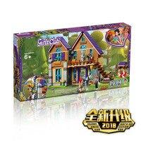 805pcs girl friend mia's forest villa cottage lele building blocks compatible bricks Toys for children