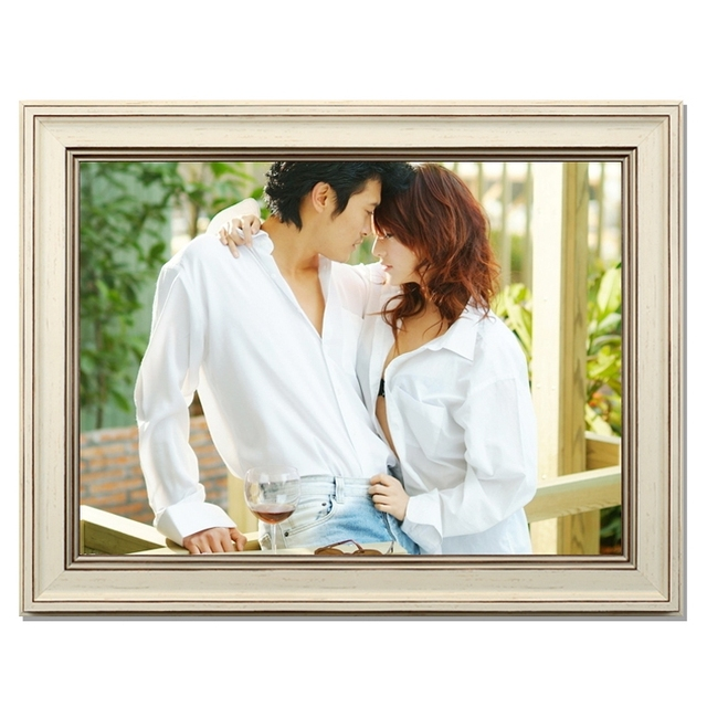 New Korean white photo frame wall 16 inch 20 inch 24 18 puzzle box ...