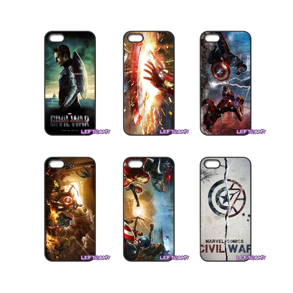 Marvel Captain America Civil War Hard Phone Case Cover For iPhone 4 4S 5 5C SE 6 6S 7 8 Plus X 4.7 5.5 iPod Touch 4 5 6