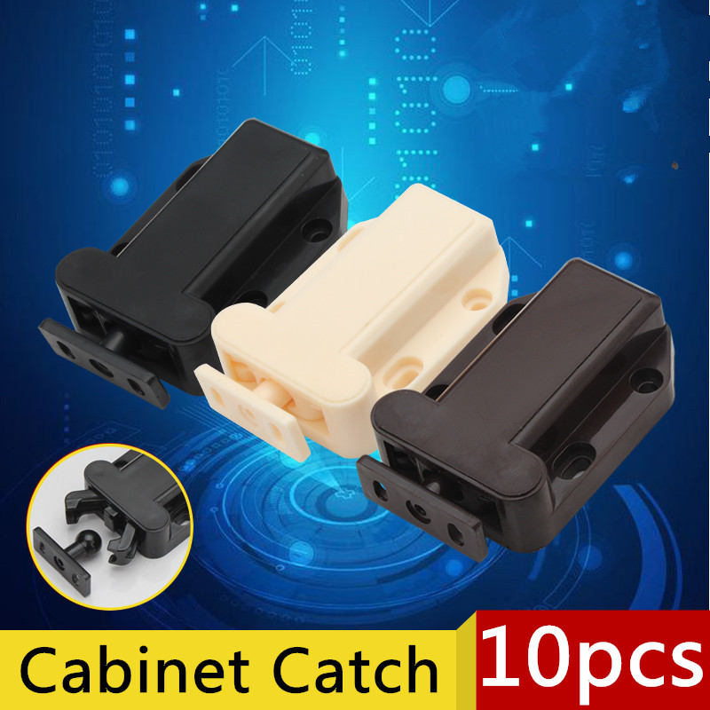 цена 10pcs 56x40mm Beetles Shape Cabinet Door Catch Push To Open Drawer Kitchen Cupboard Door Touch Latch of Various Color Release AB