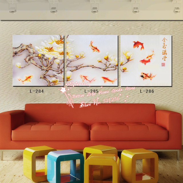 Modern Wall Art Home Decoration Printed Oil Painting Pictures 3 Piece  Treasures Fill The Home Traditional