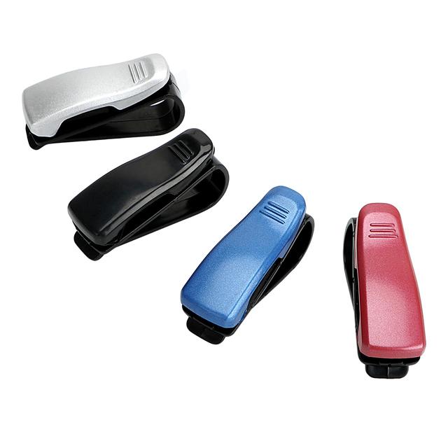 YOSOLO Car Glasses Case Eyeglasses Clip Ticket Card Clamp Fastener Cip Portable Car Sun Visor Sunglasses Holder Auto Accessories