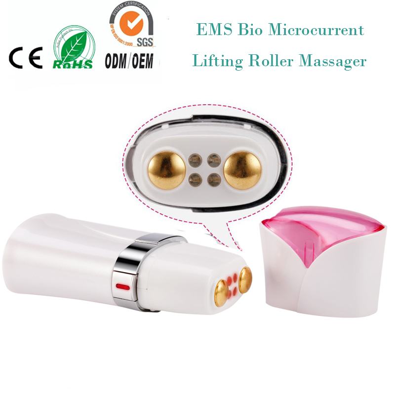 Mini Travel Use Electric Bio Microcurrent EMS Skin Collagen Stimulation Anti Aging Wrinkle Remover Face Lifting Roller Massager l arisse bio collagen