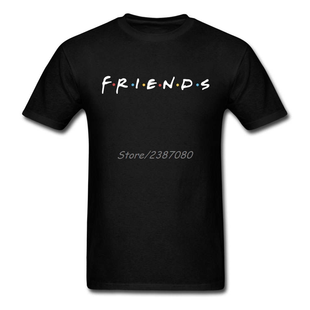 Us 12 54 43 Off Friends Logo T Shirt Custom Short Sleeve Tshirt Men Top Boyfriend Cotton Crewneck 3xl Tv S Shirts In From
