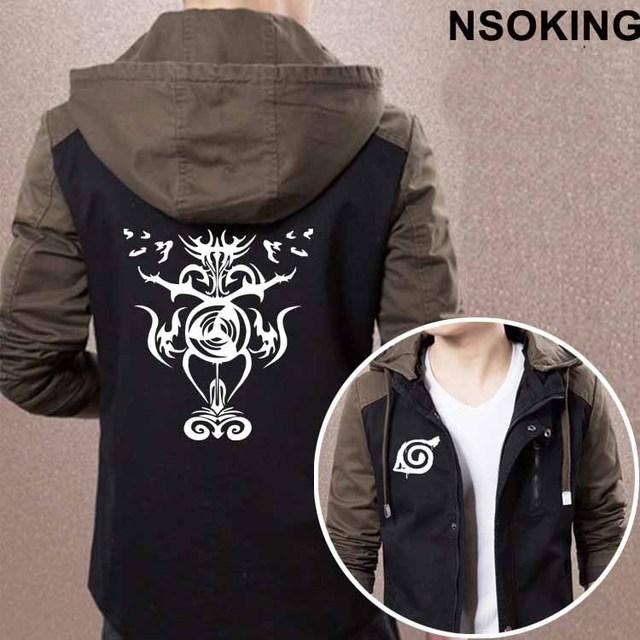 2017 Spring Autumn Naruto Hoodie Anime Naruto Uzumaki Cool Coat Men zipper Jacket