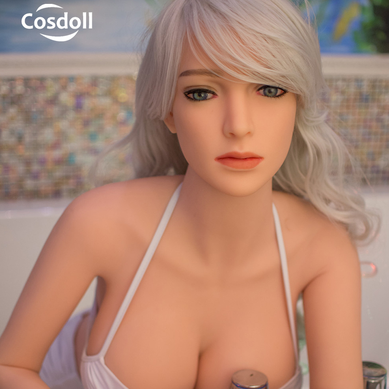 Cosdoll 148cm <font><b>Hot</b></font> <font><b>sale</b></font> Realistic TPE Silicone <font><b>Sex</b></font> <font><b>Dolls</b></font> Tan White Skin Sexy Toys for Men Masturbation image