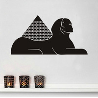 Free shipping Egyptian Pyramid Sphinx Wall Sticker Vinyl Wallpaper Living Room Wall Decals Home Decor Art wall stickers