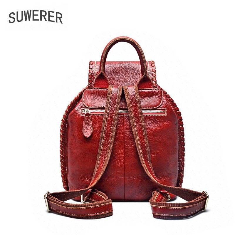 Luxus Neue Taschen 2019 red Echtem Tasche Suwerer Designer Frauen Leder Rucksack Mode Black qYRxH