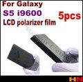 5 unids Film polarizador polarización Polaroid película ligera para Samsung i9600 S5 G900 reemplazo