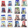 12 unids Spiderman Star Wars TMNT niños de dibujos animados cordón impreso mochila de la escuela de compras del partido de viajar bolsas