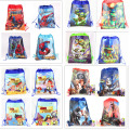 12Pcs Spiderman Star Wars TMNT Cartoon Kids Drawstring Printed Backpack Shopping School Traveling Party Bags
