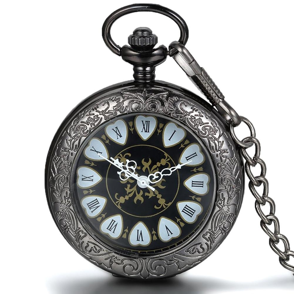 Steakpunk Fashion Design hjerte Form Mekanisk Herre Kvinder Pocket FOB Watch med kæde Gratis forsendelse Hand Wind Skeleton