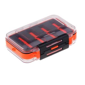 Image 5 - مزدوج الوجهين مقاوم للماء يطير صندوق معالجة الصيد شق رغوة يطير الصيد هوك الرقص حقيبة للتخزين 4.5x2.8x1.6 بوصة