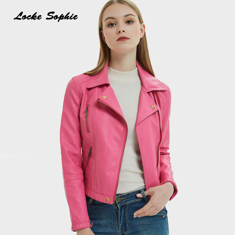 Women's Plus size short jacket blazers 2019 Autumn PU   leather   Splicing faux fur Slim fit Jacket ladies Skinny locomotive blazers