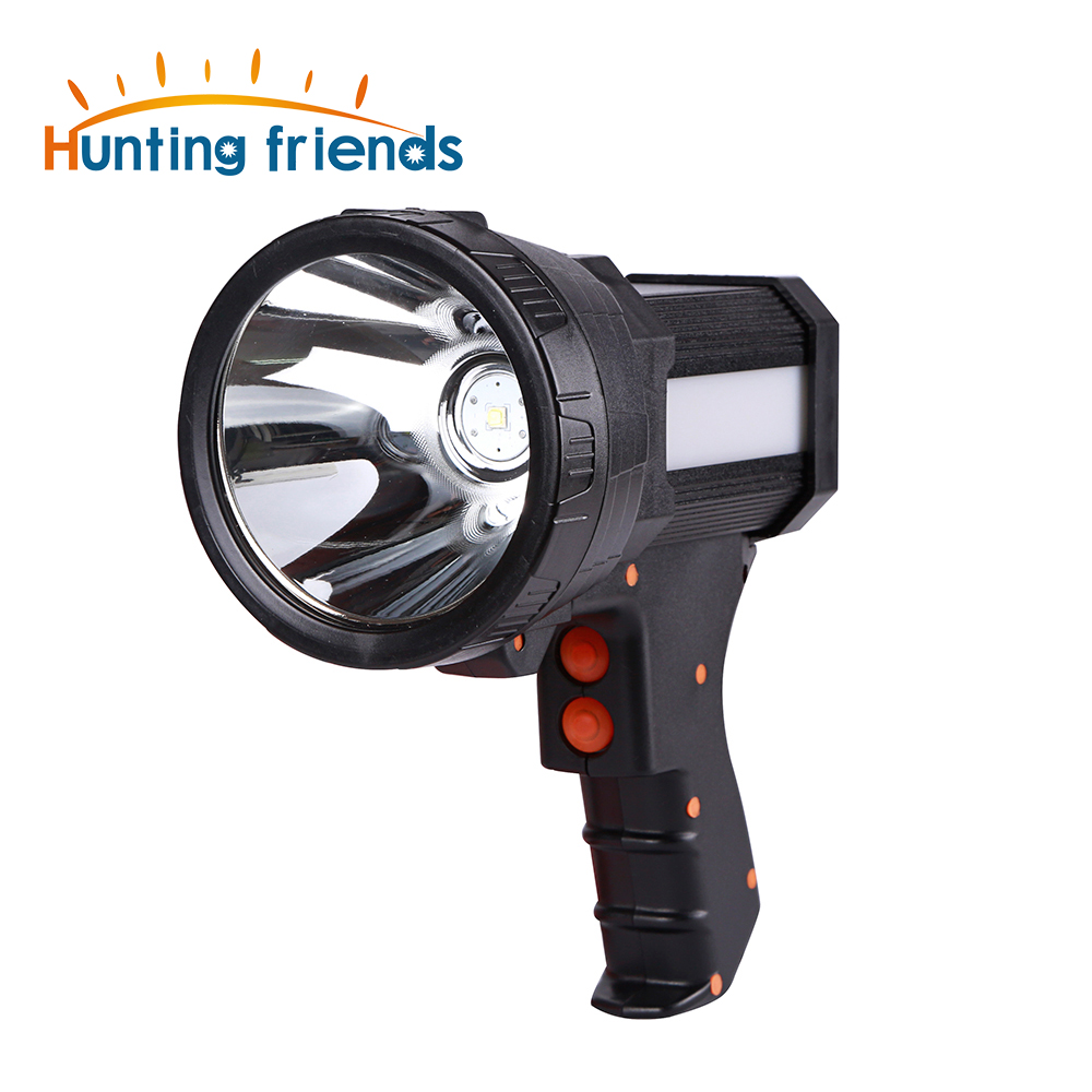 Superbright USB Gun Flashlight Rechargeable 18650 Battery Included 3 Mode Tactiacl Spotlight With Side Light