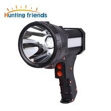 السوبر مشرق USB بندقية مصباح يدوي قابلة للشحن 18650 بطارية وشملت 3 وضع اللمس الأضواء مع ضوء الجانب